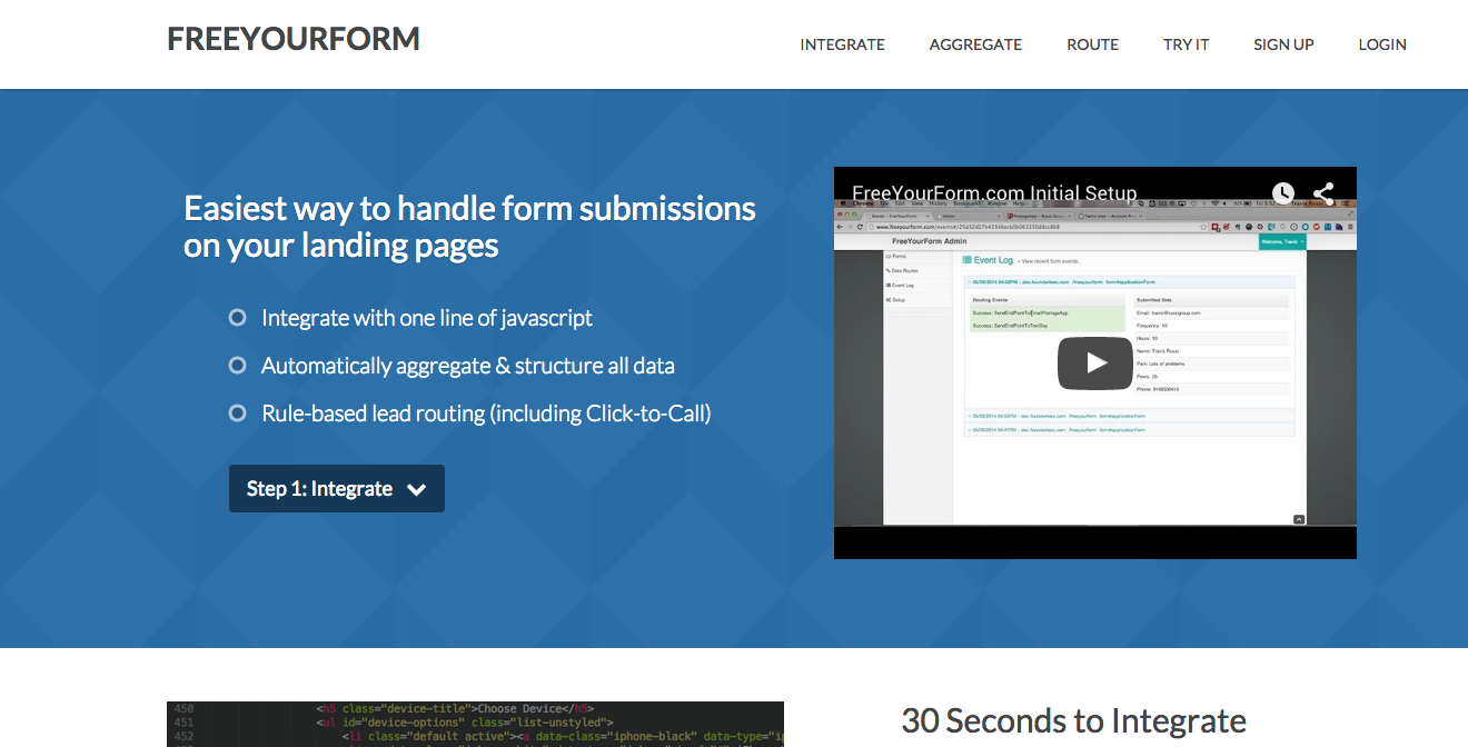 Free Your Form Homepage